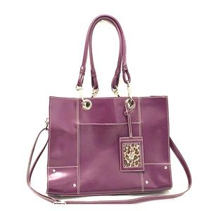 Purple Wilsons Leather Large Purse Laptop Bag